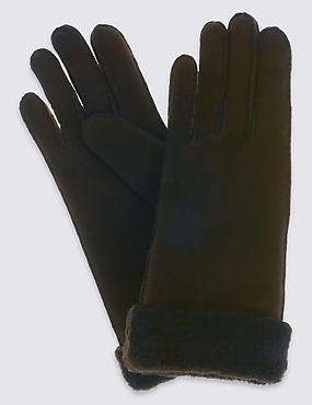 Leather Gloves, CHOCOLATE, catlanding