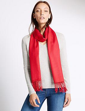 Sjaal van modalmix met wol, LAKROOD, catlanding