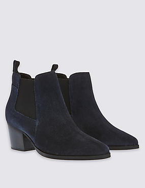 Suede Chelsea Boots with Insolia®, NAVY, catlanding