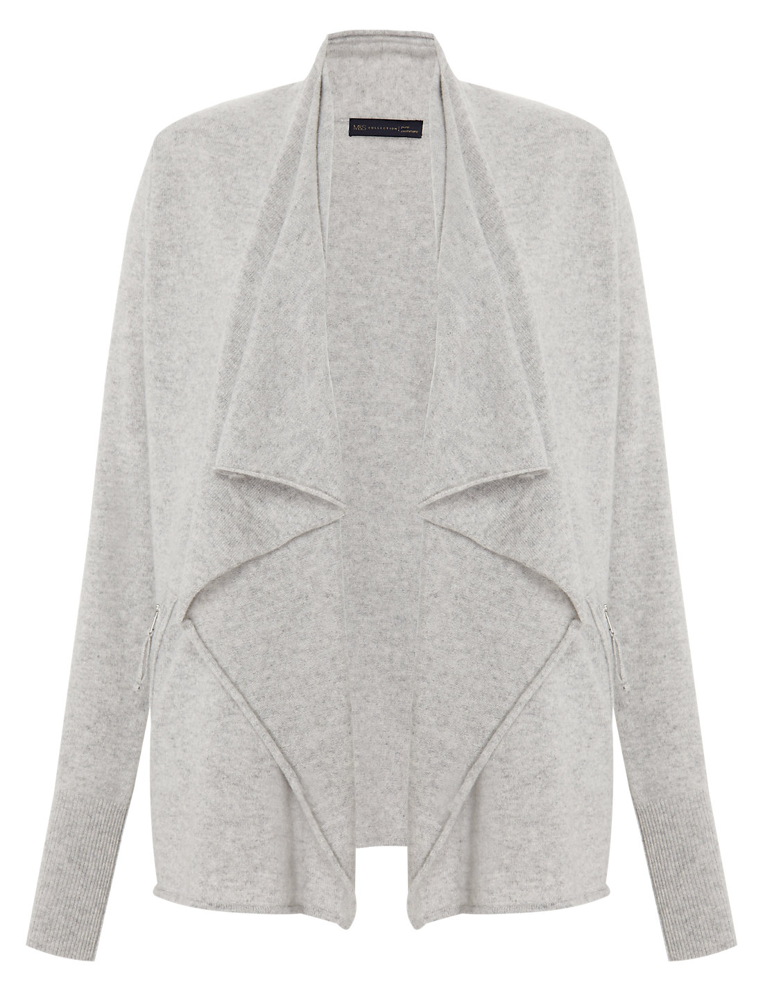 Pure Cashmere Waterfall Cardigan | M&S
