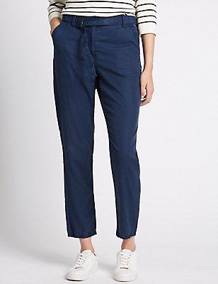Slim Leg Cargo Trousers, NAVY, catlanding