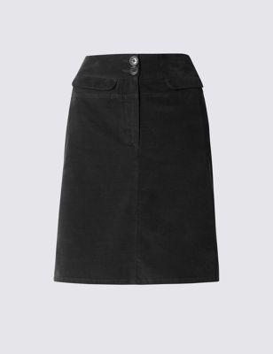 Вельветовая мини-юбка А-силуэта