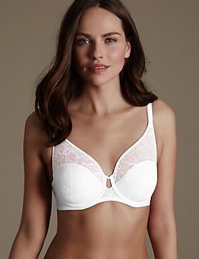 Youthful Lift™ Lace Non-Padded Full Cup Bra, WHITE MIX, catlanding