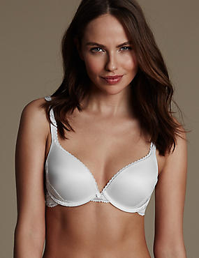Soutien-gorge ampliforme push-up Perfect Fit en mousse à mémoire de forme, bonnetsAAàF, BLANC, catlanding