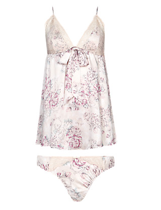 Rosie for Autograph Pure Silk Babydoll & Knickers Set Clothing