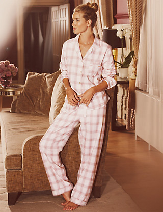 Rosie for Autograph Luxury Woven Checked Revere Pyjamas Clothing