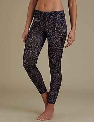 Heatgen™ Contour Print Legging, BLACK MIX, catlanding