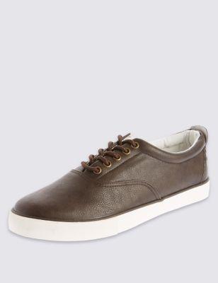 Кеды на шнуровке с контрастным дизайном M&S Collection T032957