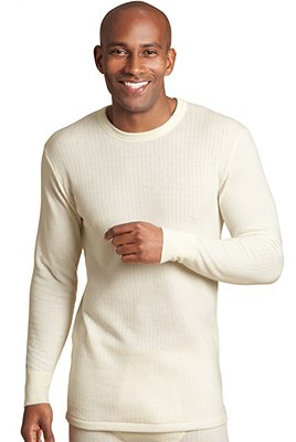 Long Sleeve Thermal Vest with Merino Wool, CREAM, catlanding