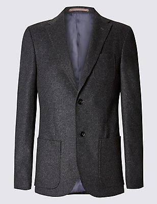Big & Tall 2 Button Jacket, CHARCOAL, catlanding