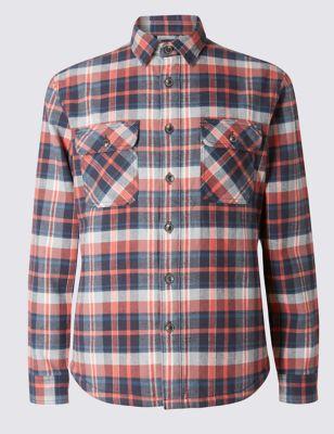 Фланелевая рубашка с утеплителем M&S Collection T253118M