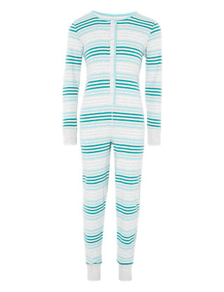 Pure Cotton Striped Soft & Cosy Onesie Clothing