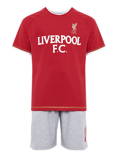Liverpool Football Club Pyjama Shorts Set Clothing