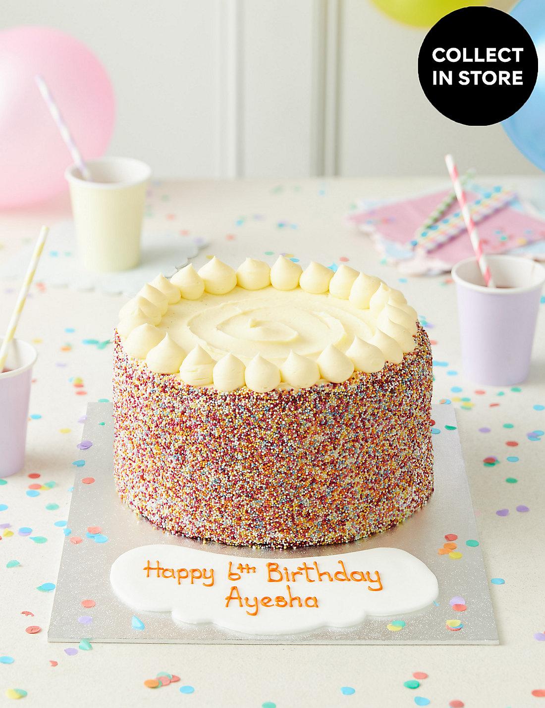 Extra Large Rainbow Layers Personalised Cake