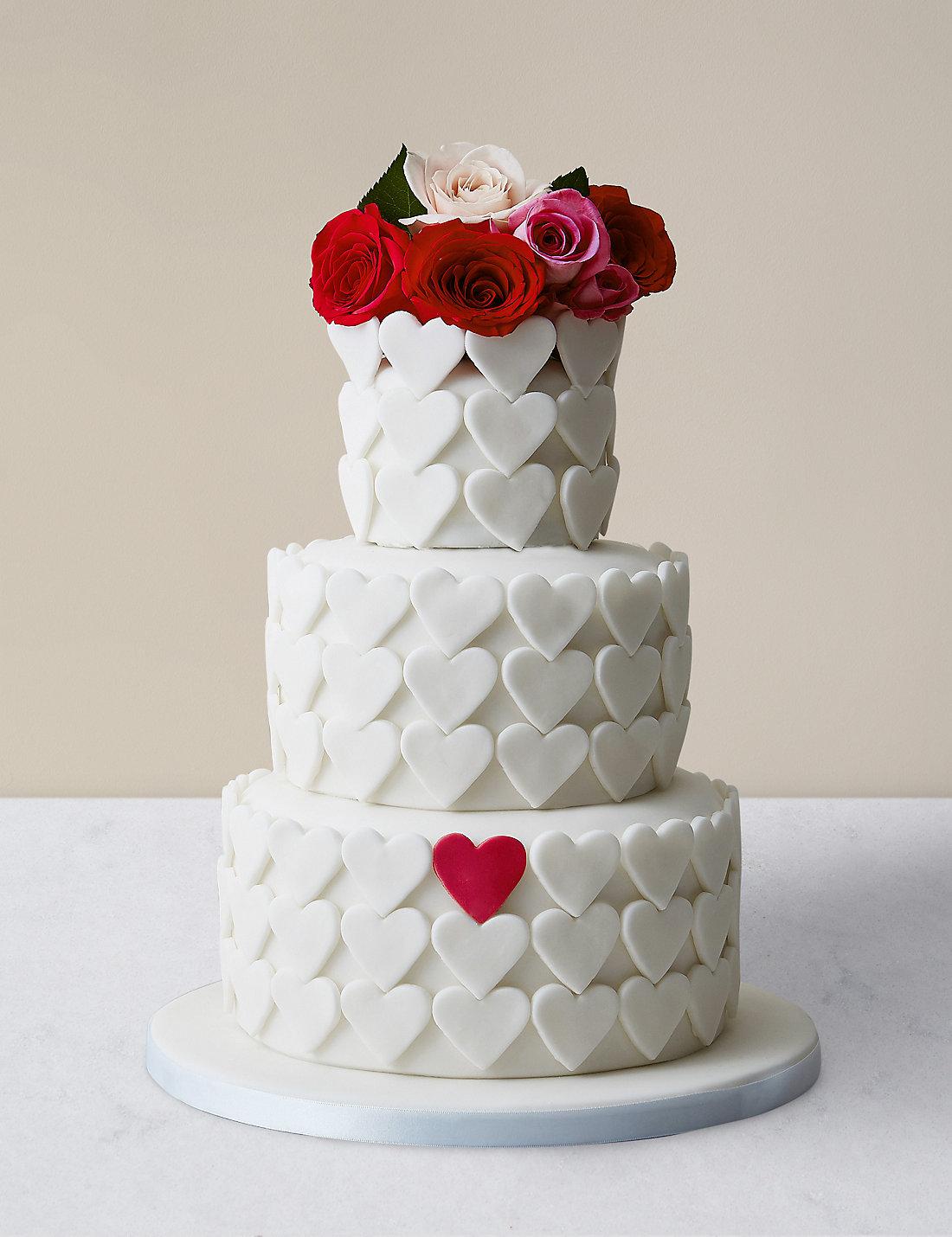Serene Heart Chocolate Sponge Wedding Cake