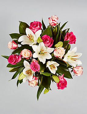 The Collection Rose Lily Bouquet