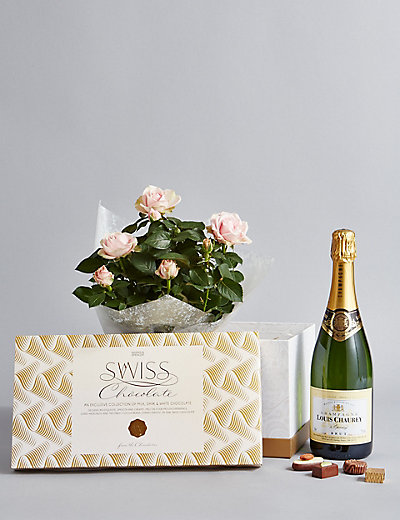 Luxury Hamper With Wines And Chocolates