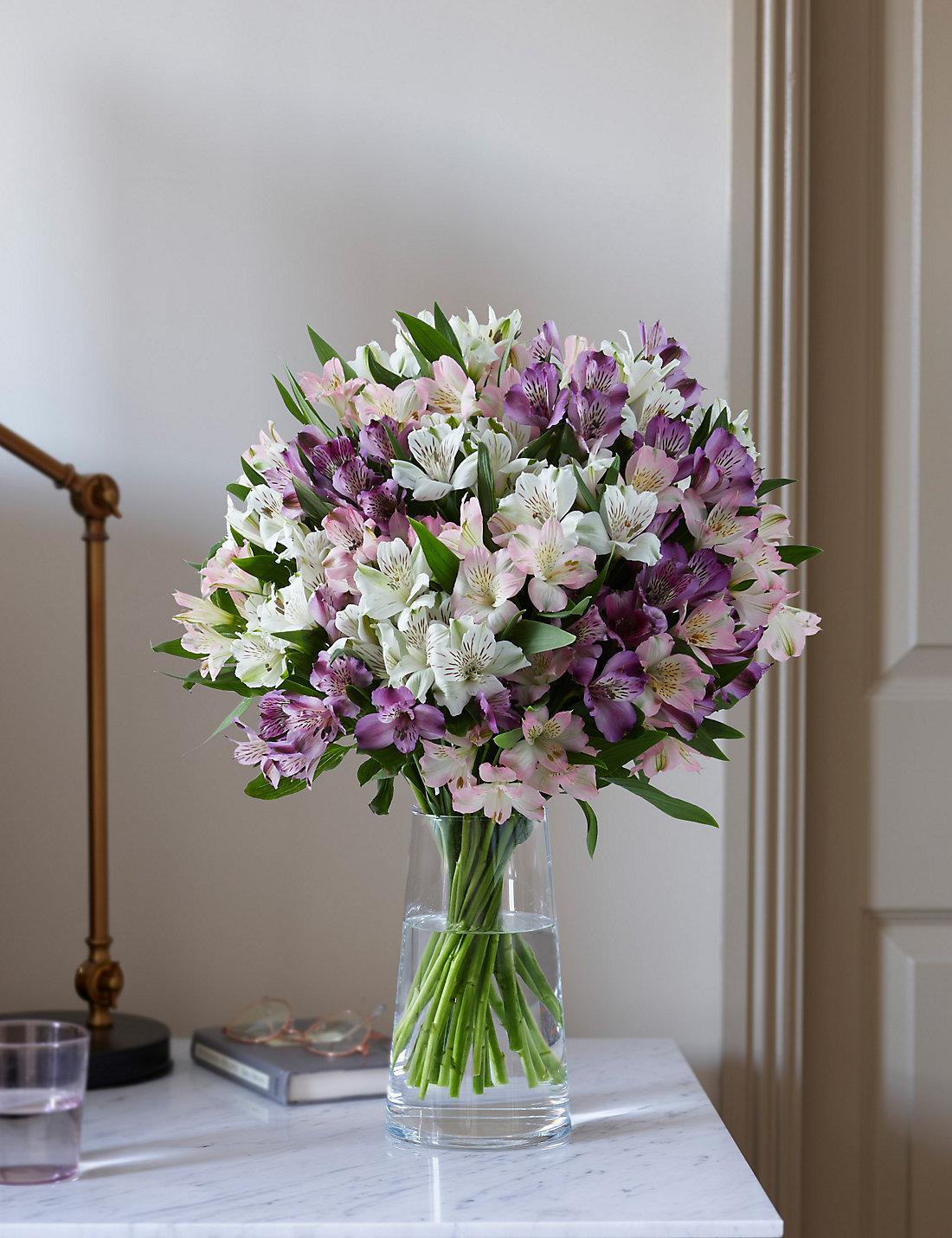 Happy birthday flowers birthday bouquet hampers ms alstroemeria abundance bouquet dhlflorist Gallery