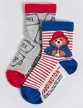 2 Pairs of Paddington™ Socks (1-2 Years), MULTI, catlanding