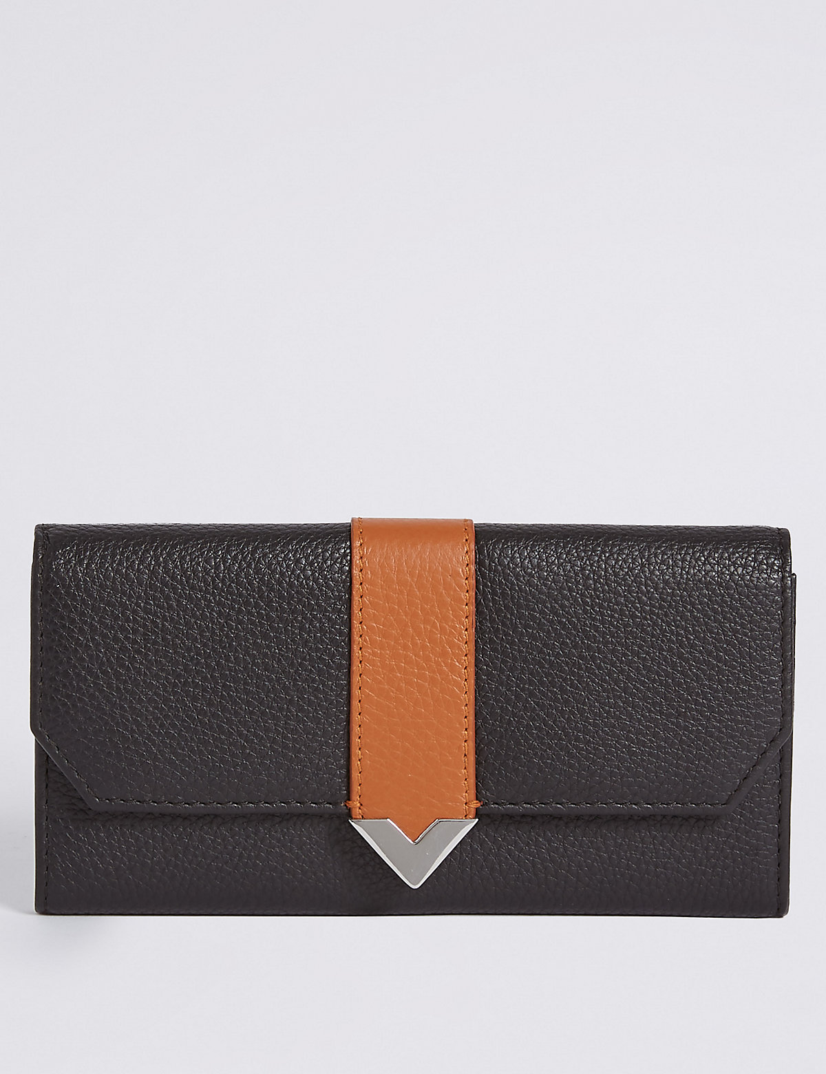 M&S Collection Leather Contrast Purse
