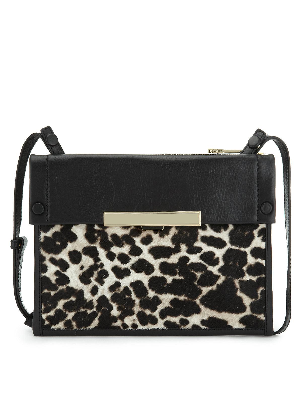 Autograph Leather Leopard Print Shoulder Bag 23