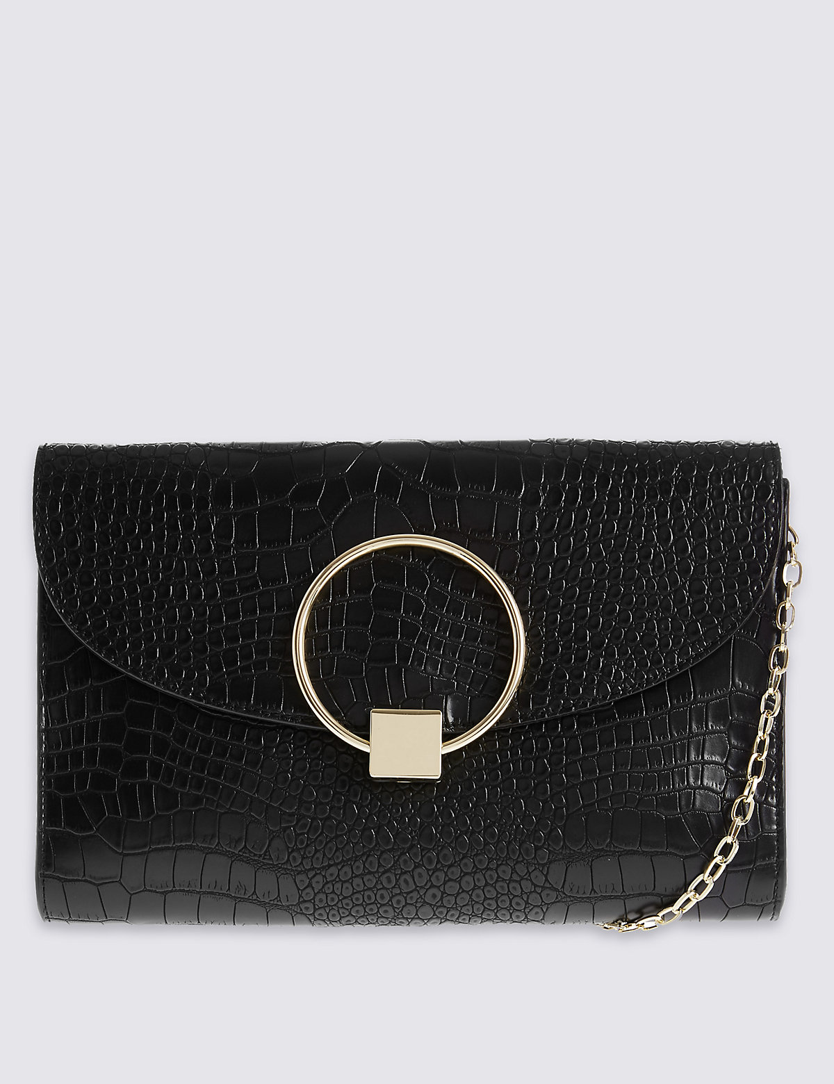 M&S Collection Faux Leather Clutch Bag