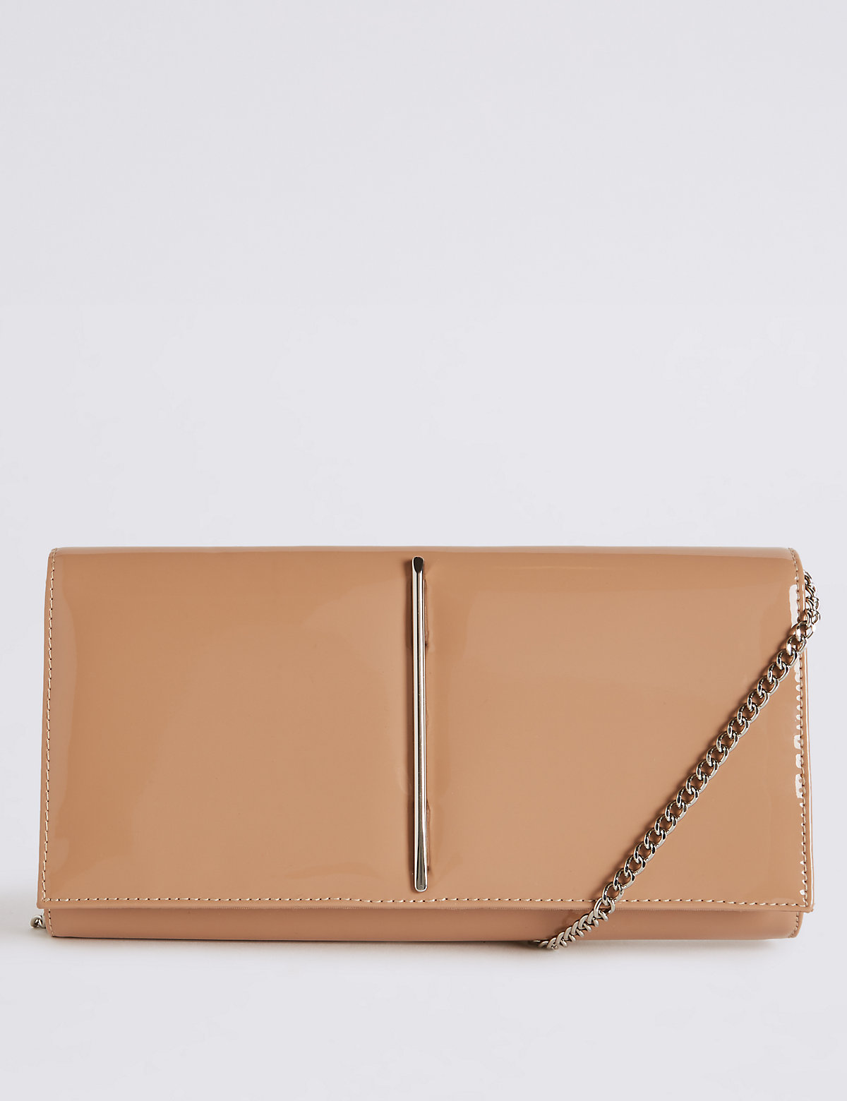 M&S Collection Metal Bar Clutch Bag