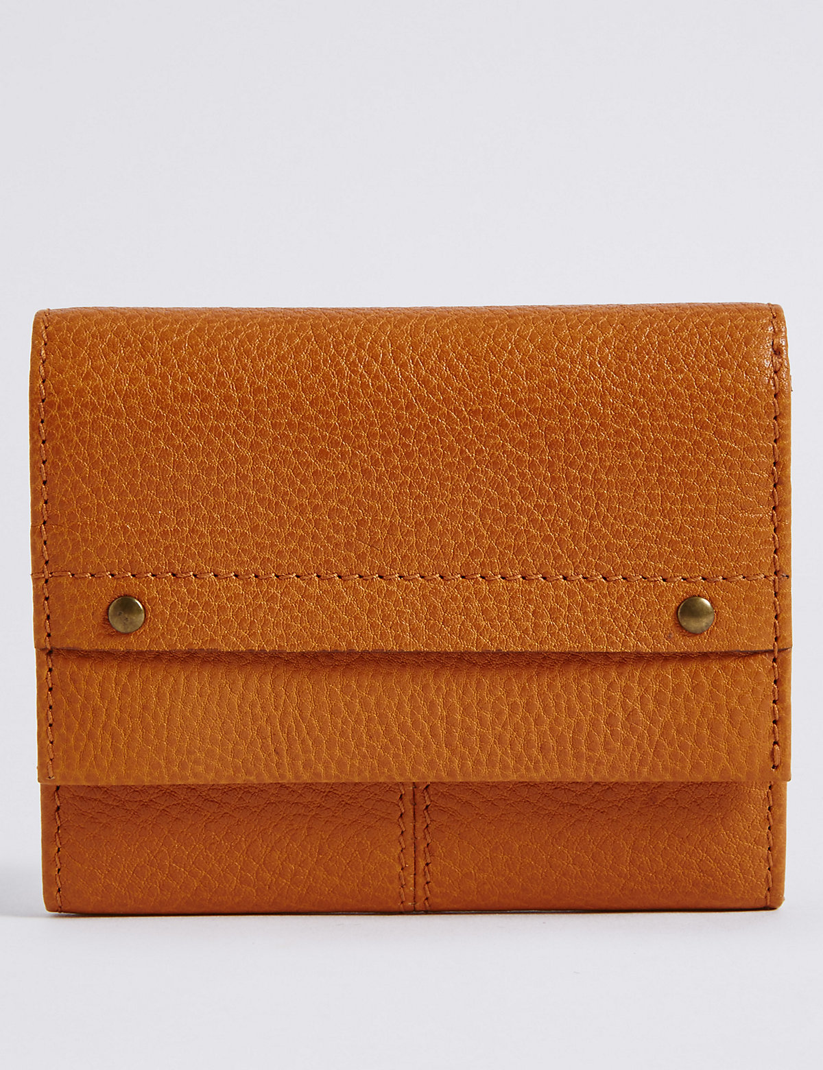 M&S Collection Leather Grainy Purse with Cardsafe