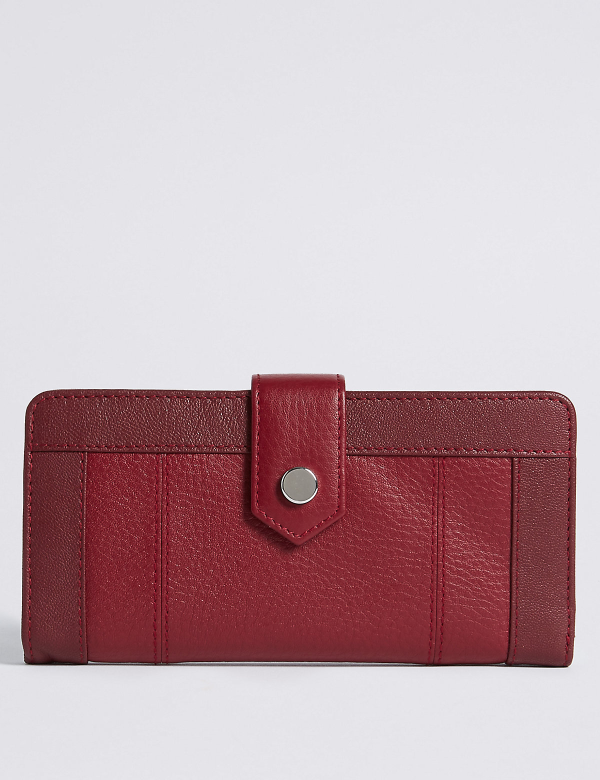 M&S Collection Leather Stud Purse with Cardsafe