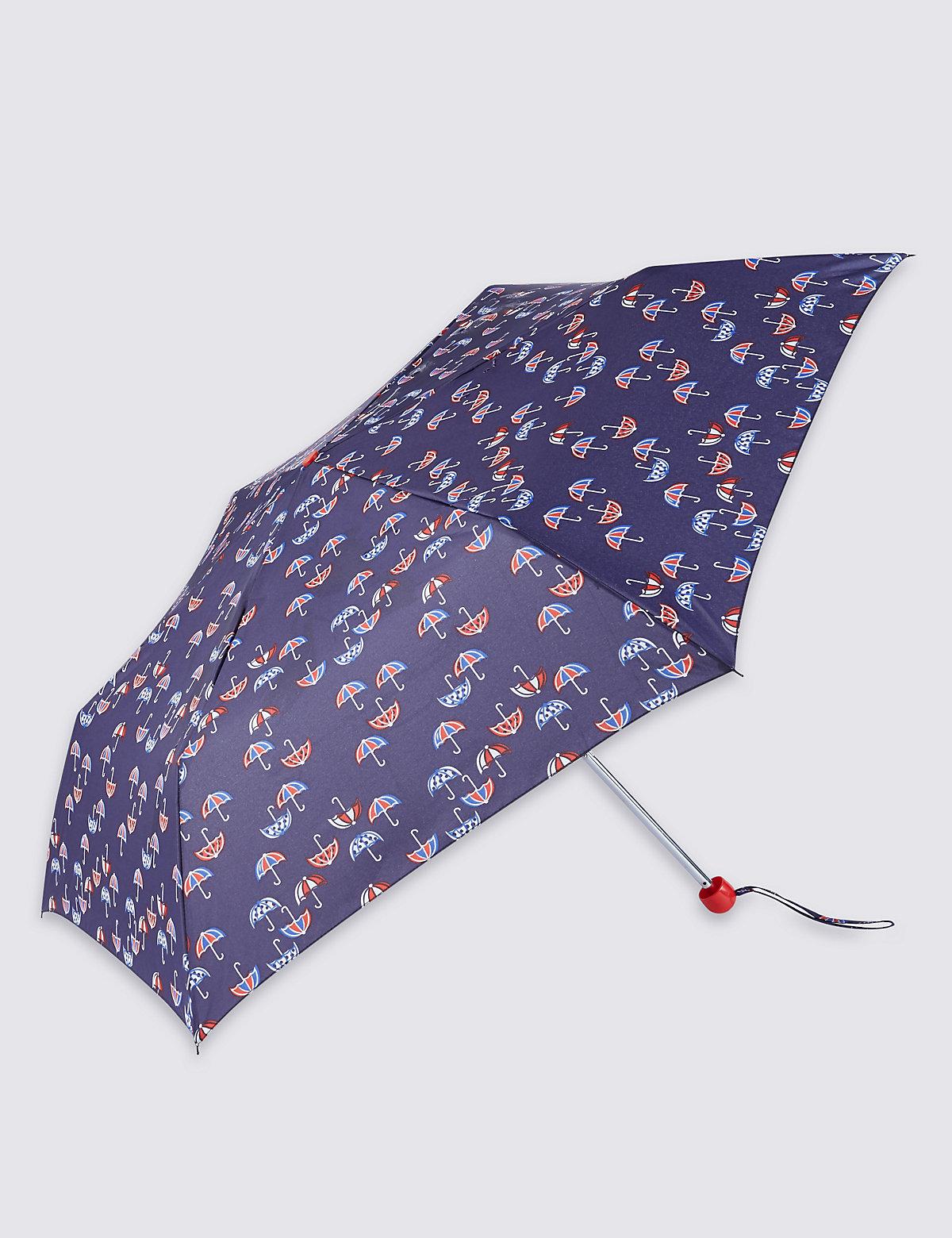 M&S Collection Mini Umbrella Print Compact Umbrella with Stormwear
