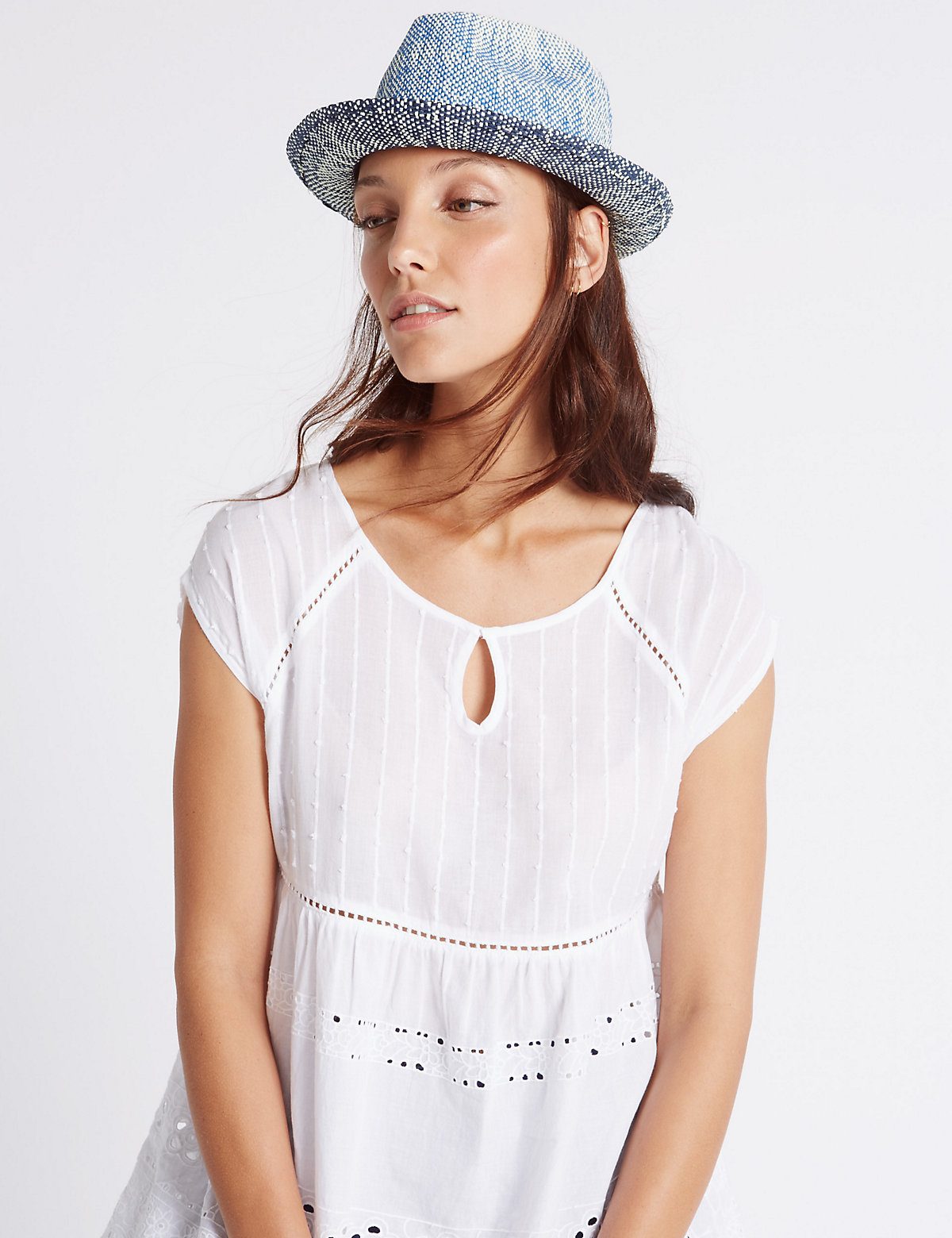 M&S Collection Ombre Trilby Hat