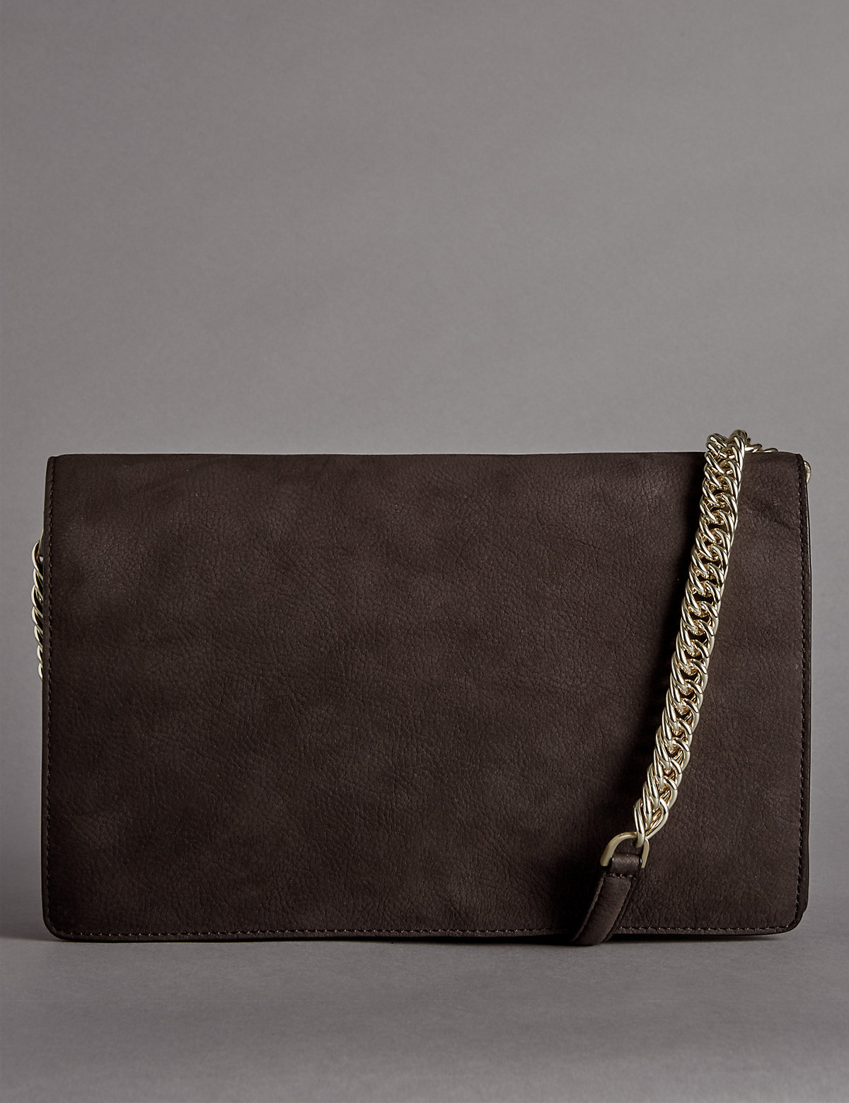 Autograph Nubuck Shoulder Clutch Bag