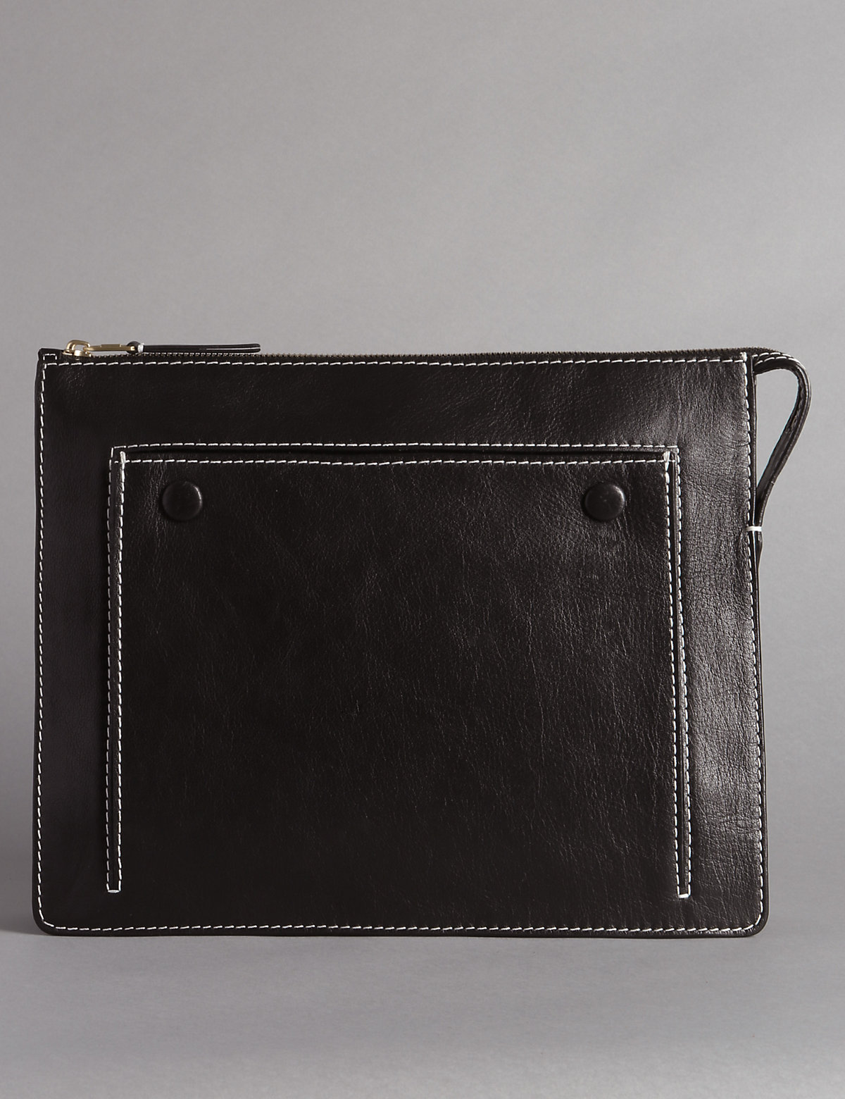 Autograph Leather Amber Attached Clutch Bag