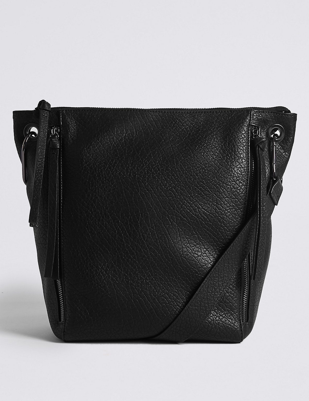 M&S Collection Faux Leather Messenger Bag