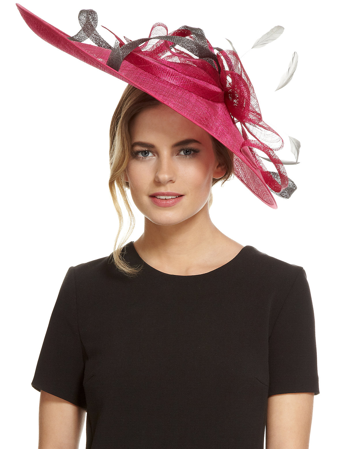 M&S Collection Faux Feather & Swirl Fascinator