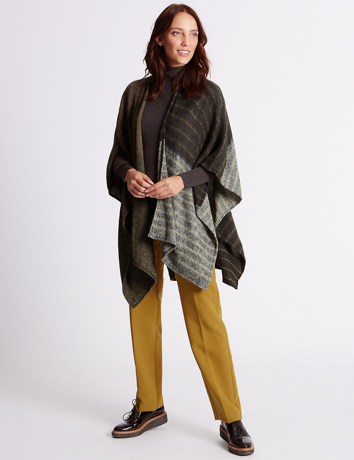 M&S Collection Knitted Patchwork Wrap