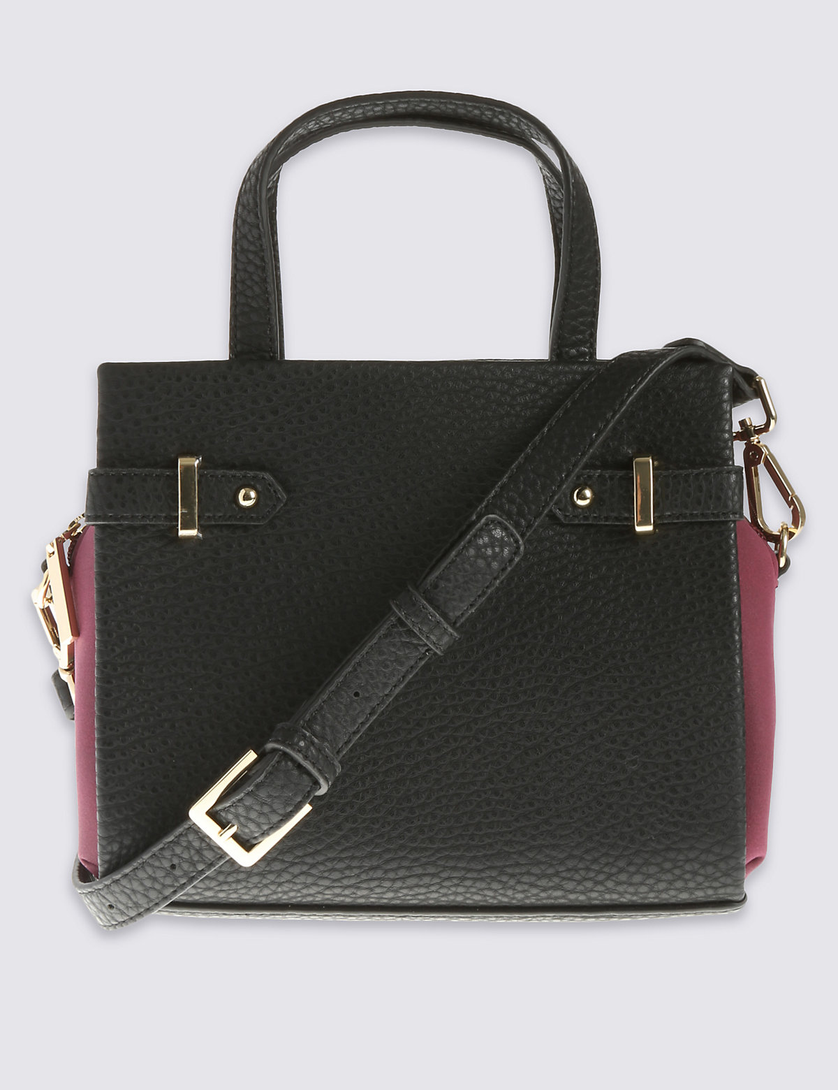M&S Collection Faux Leather Mini Grab Tote Bag