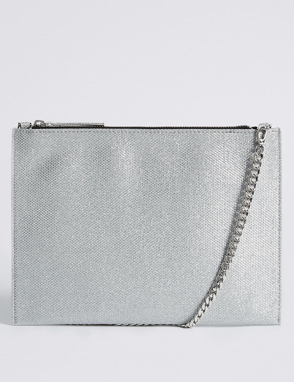M&S Collection Faux Leather Chain Shoulder Bag