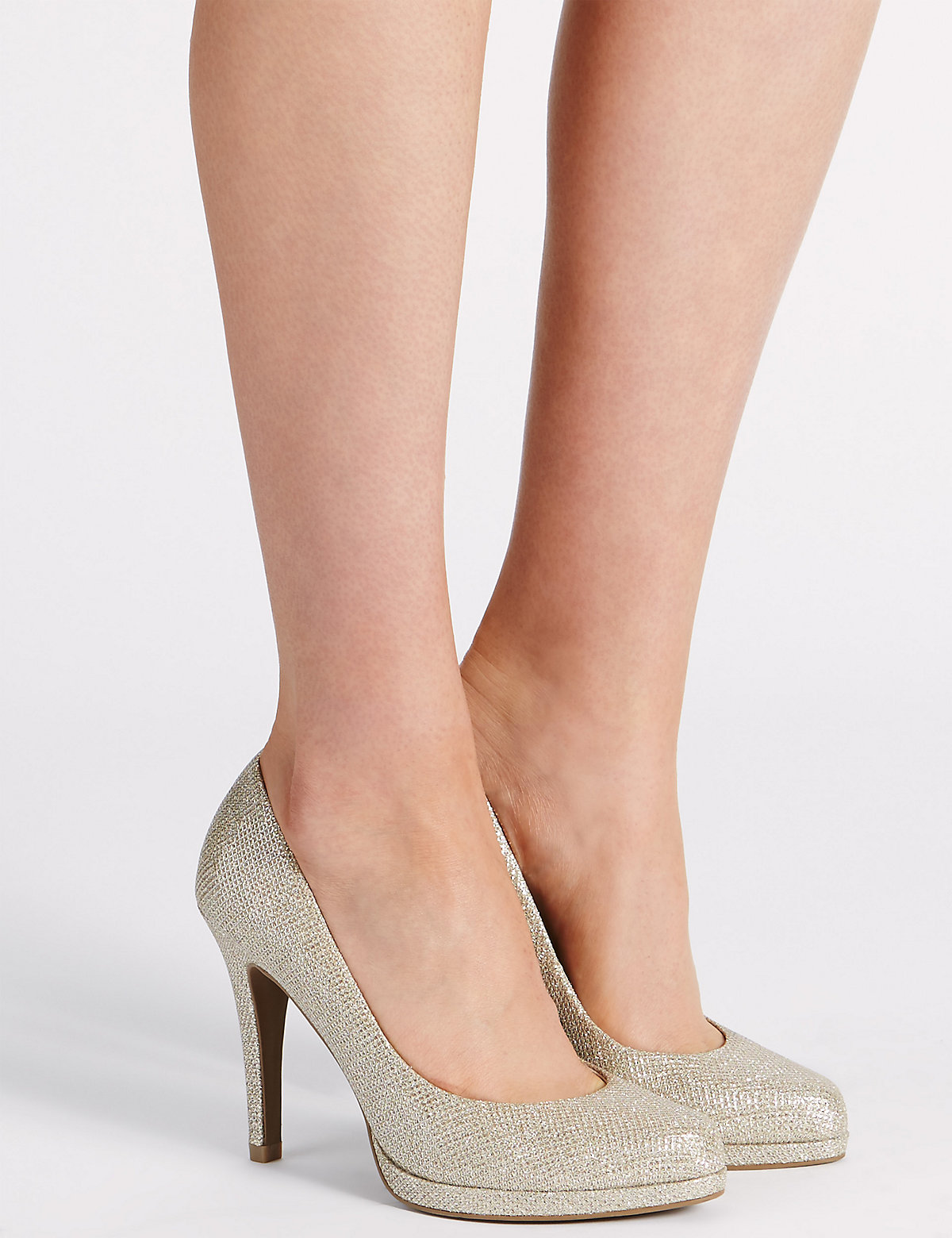 MS Collection Stiletto Platform Court Shoes with Insolia Marks and Spencer P22479096