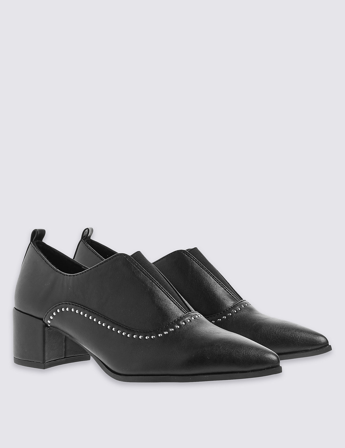 Image of M&S Collection Elastic Stud Shoes with Insolia