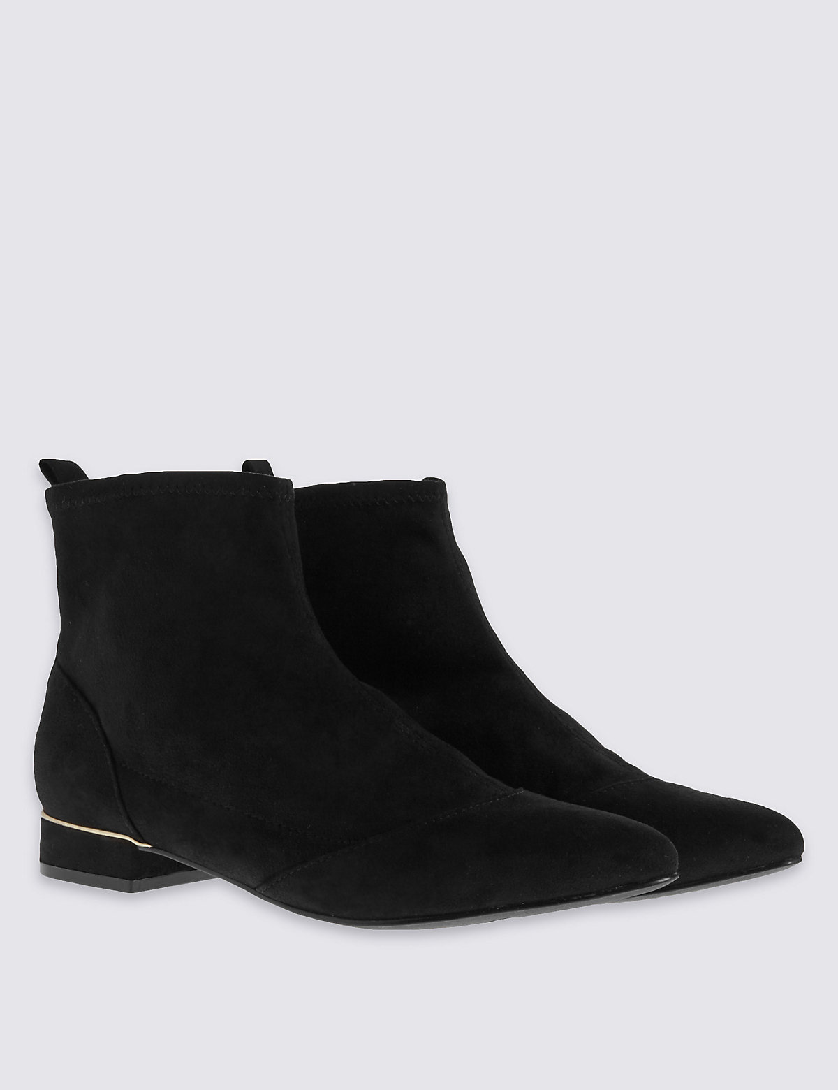 M&S Collection Trim Heel Ankle boot with Insolia Flex