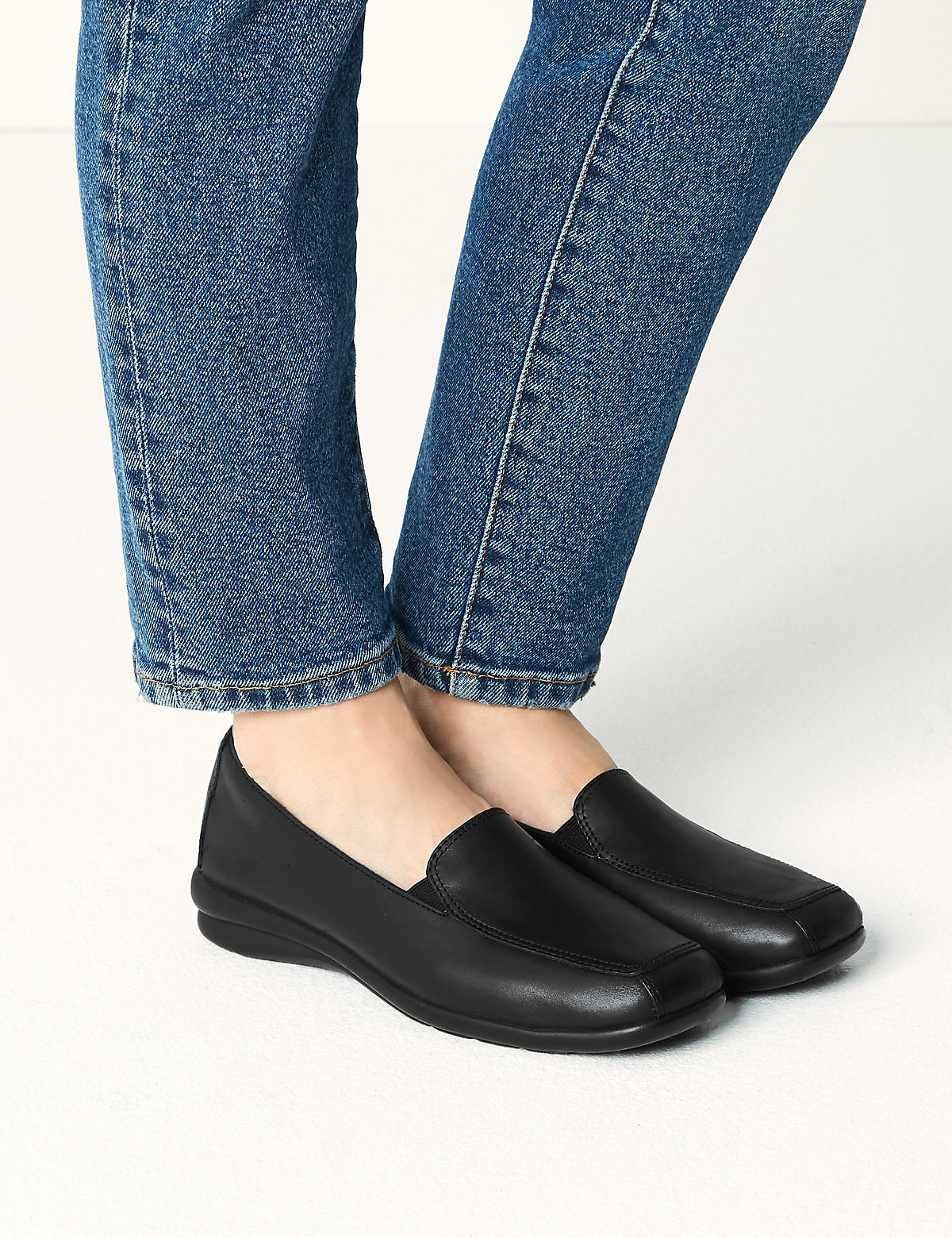 Footglove Leather Wedge Loafers