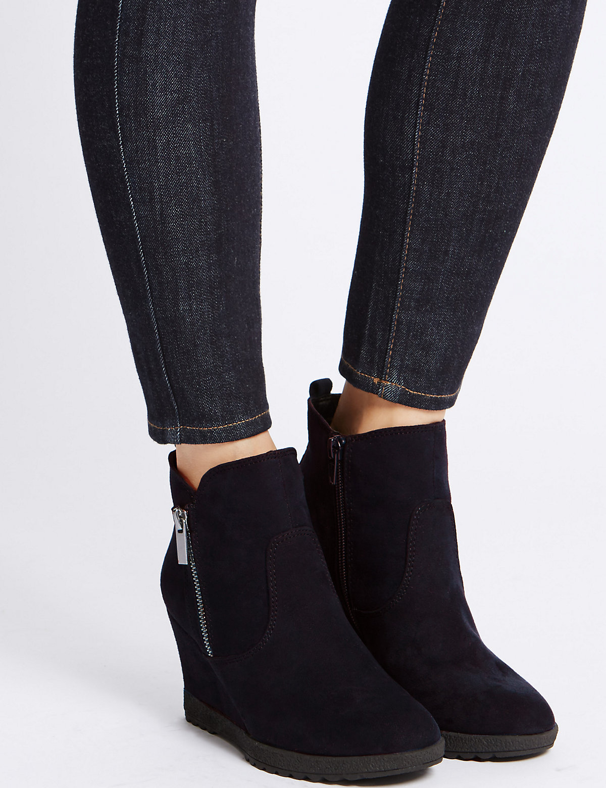 Image of M&S Collection Wedge Heel Ankle Boots