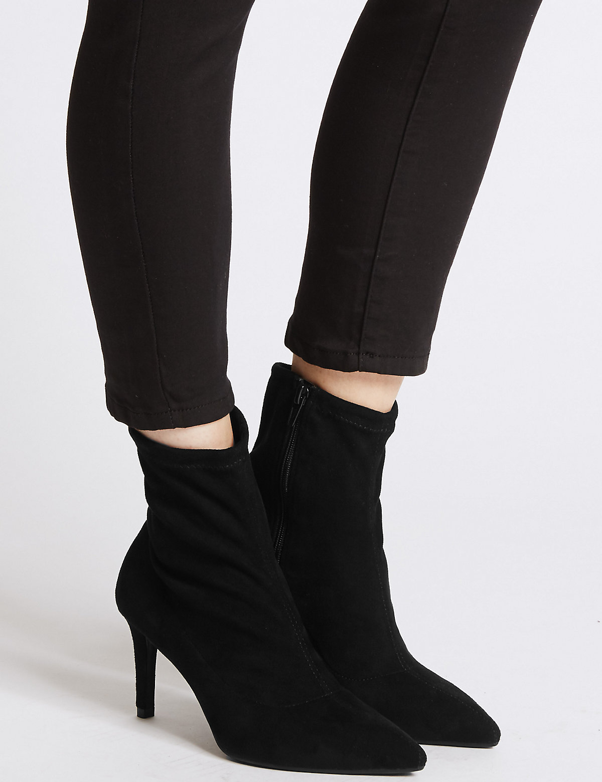 M&S Collection Stiletto Heel Stretch Ankle Boots