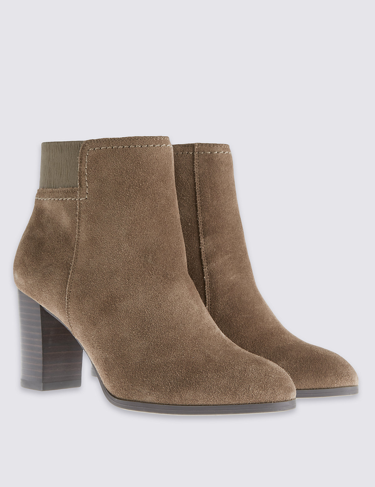 M&S Collection Wide Fit Elastic Back Boots with Insolia