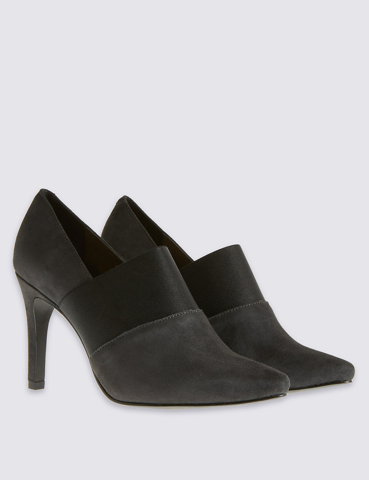 Image of M&S Collection Stain Away Elastic Shoe Boots with Insolia