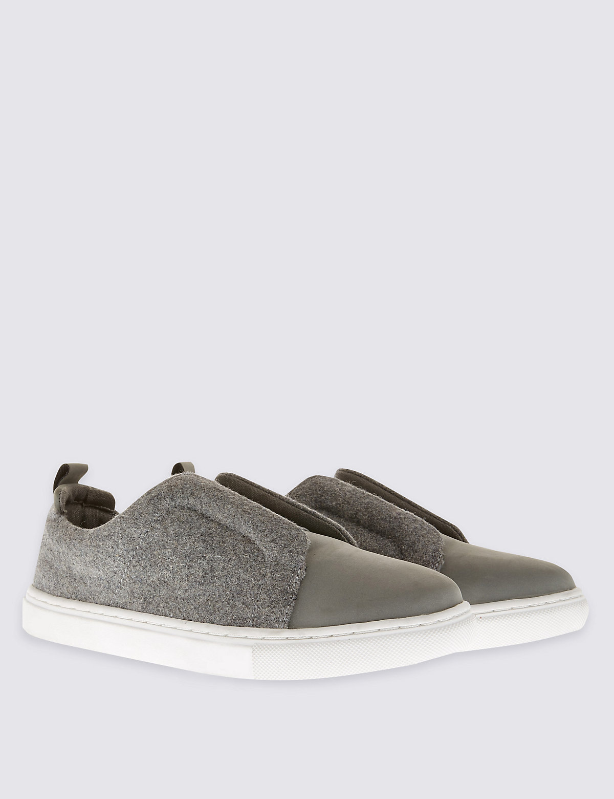 Image of M&S Collection Slip-On Elastic Trainer with Insolia Flex