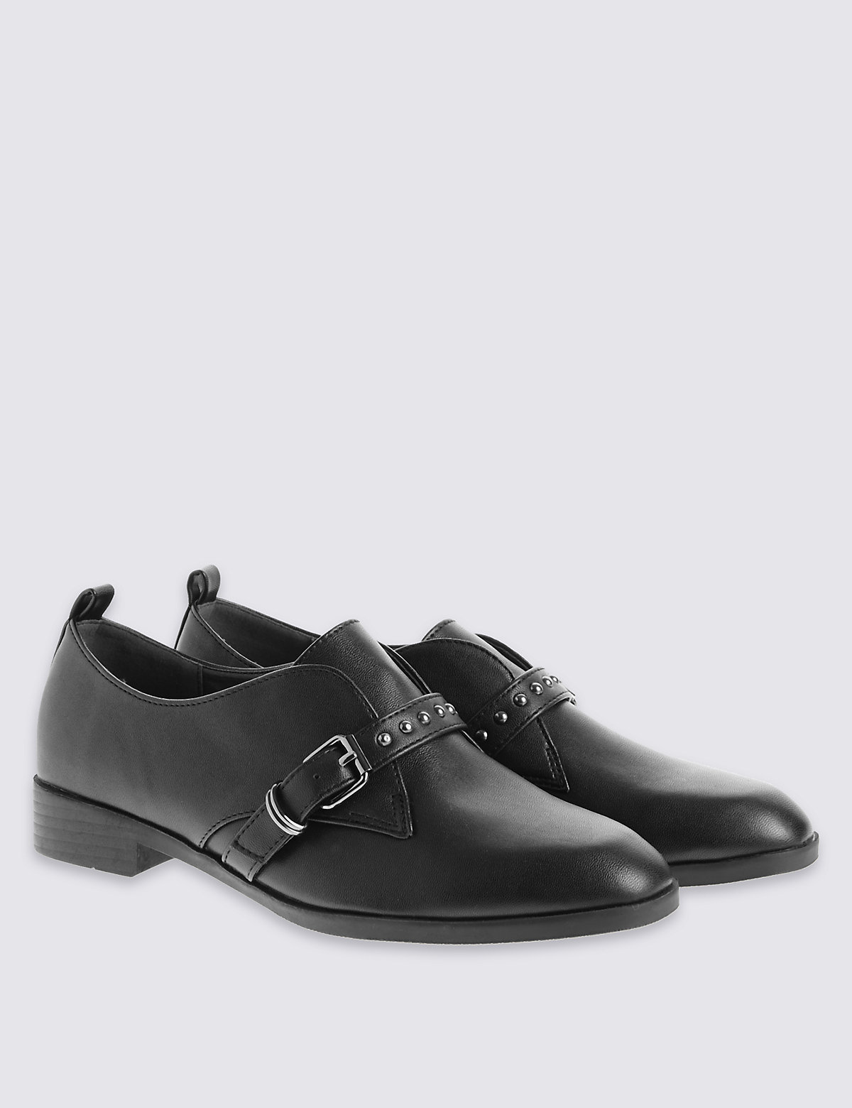 M&S Collection Stud Strap Monk Brogue Shoes with with Insolia Flex