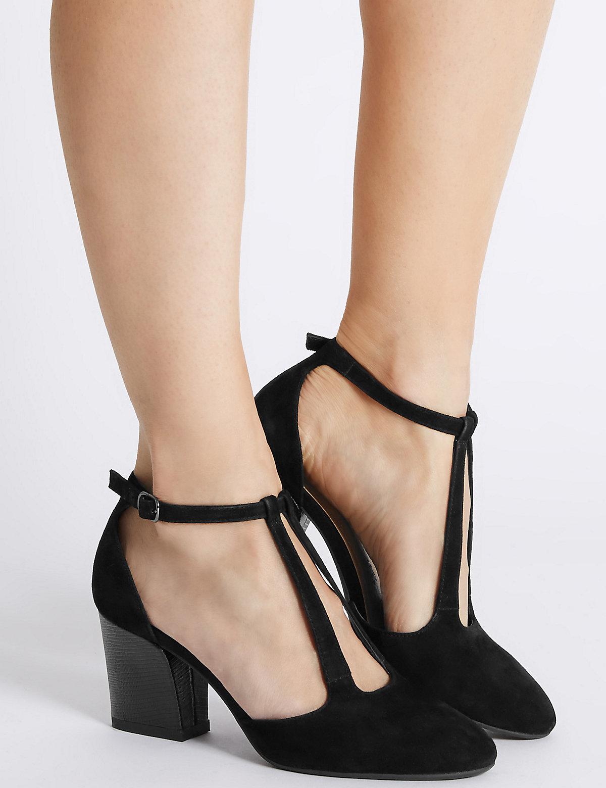 Blue Footglove Court Shoes