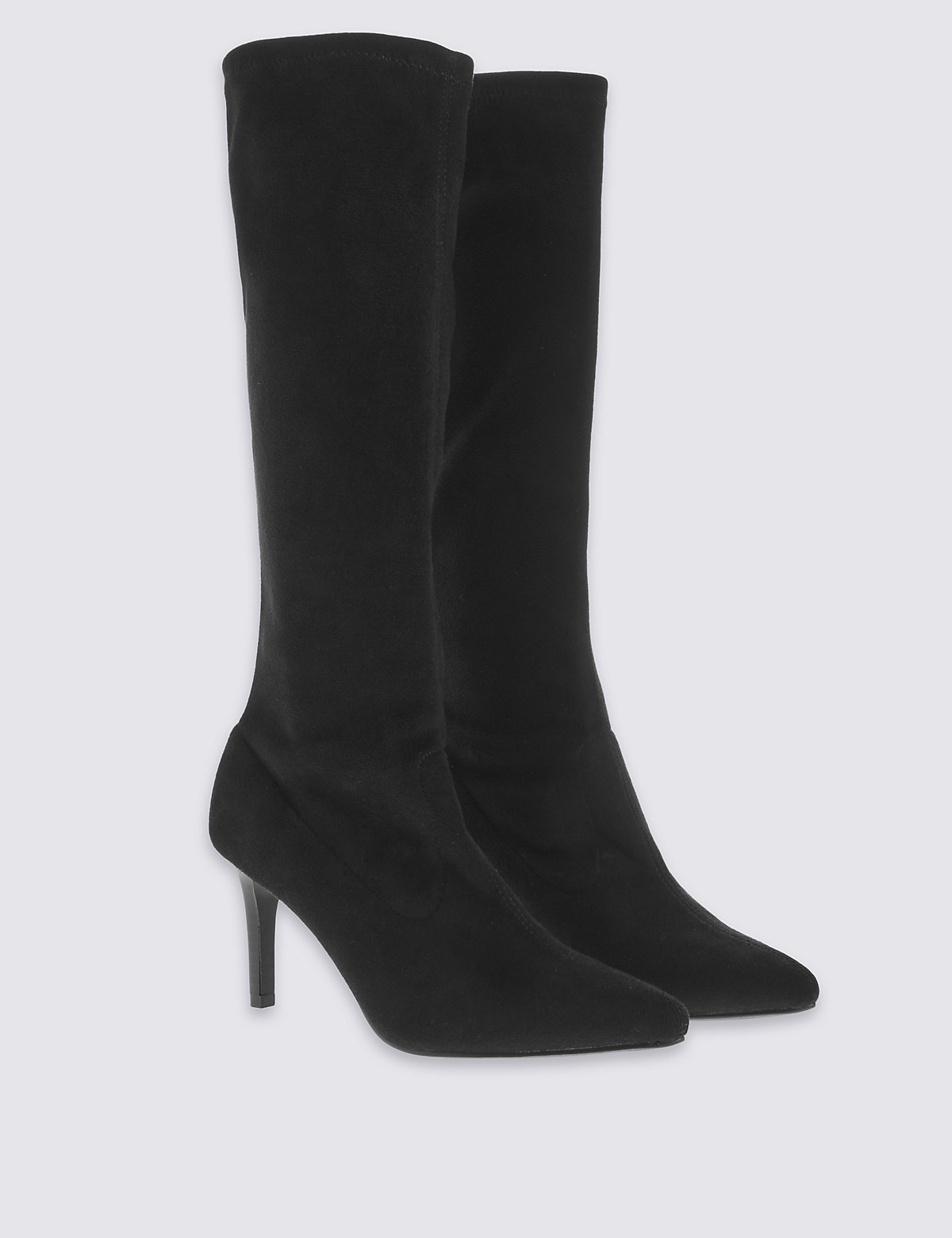 M&S Collection Pointed Toe Stretch Long Boots with Insolia